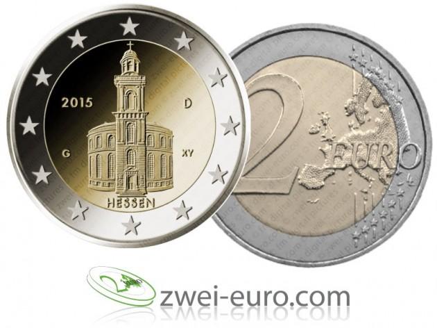 La moneta da due euro con la Paulskirche. Dal sito.
