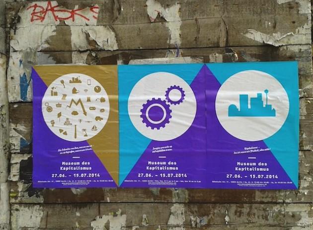 I poster annunciano l'inaugurazione del Museo (via)