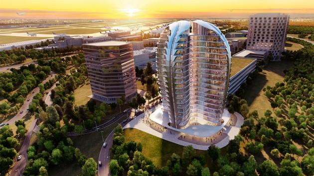 Il progetto di Zaha Hadid, dal sito del Gateway Gardens.