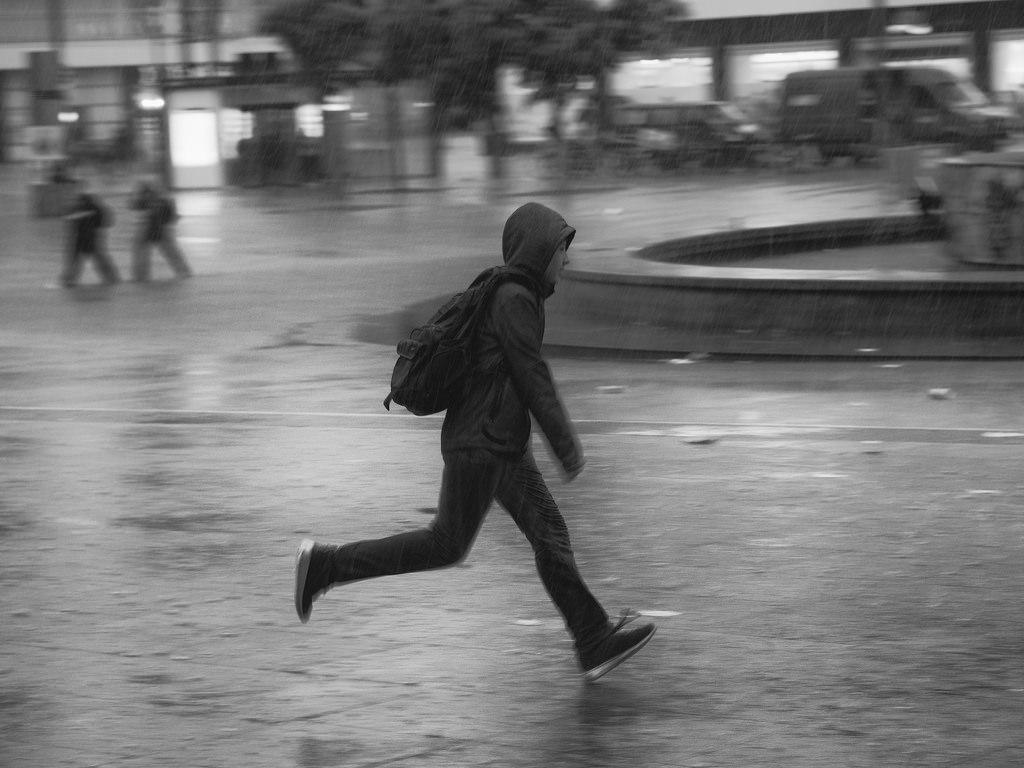 pioggia a Berlino photo